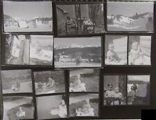 LOT 47 PHOTOS NEGATIF LUXEMBOURG & STATION SKI AUTRICHE + ENFANTS vers 1950