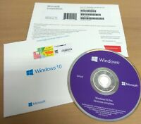 MICROSOFT WINDOWS 10 PROFESSIONAL ITALIANO BOX ORIGINALE DVD COA LICENZA A VITA