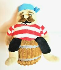 New Cute Barkbox Pirate in Barrel Fabric Dog Toy Tags Removed