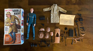 Vintage Marx Figure Mike Hazard Double Agent With Accessories And Box