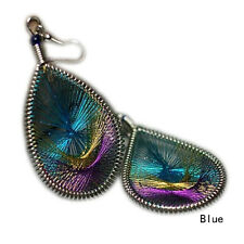 New Arrival Tail Wire Gold Thread Peacock Earrings Jewelry Women  High Quality