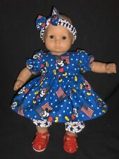 "Mickey July 4th Dress 15"" Doll Clothes Handmade ToFit American Girl Bitty Baby"