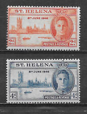 ST. HELENA , 1946 , PEACE ISSUE , SET OF 2 , PERF , MNH