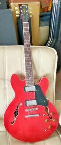 VINTAGE VSA500 CR Semi-Acoustic Electric Guitar ES-335 Dot Cherry RED VSA500CR