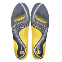 Sidas Unisex Activ' High Arch Ergonomic Shoe Insoles Grey Yellow Sports Gym