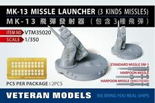 Veteran Models 1/350 MK-13 Missile Launcher (3 kind of missiles) 2pcs
