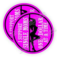 I Support Single Moms Hard Hat Stickers | Welding Helmet Decals Motorcycle Babe