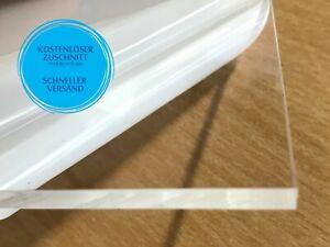 PLEXIGLAS® Acrylglas 3-8 mm GRATIS WUSCHMAß ZUSCHNITT Scheibe Platte glasklar