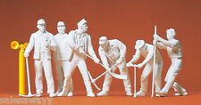 Preiser 45182 Railway Construction workers. 6 UNPAINTED FIGURES FOR LGB, 1:22,5