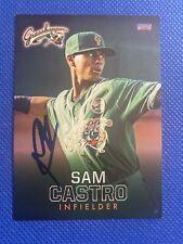 2018 Greensboro Grasshoppers Sam Castro Auto Signed Autograph Marlins