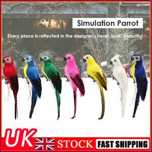 Fake Artificial Parrot Foam Feather Bird Garden Home Decor Yard Lawn Ornament UK