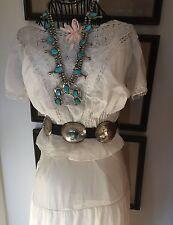 Antique Edwardian Petticoat Skirt & Camisole Top Valencienne Wedding Dress