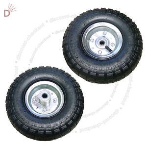 2X-10'Inch Pneumatic Tyres Sack Truck Trolley Wheel Barrow New Tyre Garden Hand.