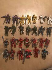Lot Of 27 Mega Blocks Halo Mini Miniature Figures With Weapons Toys Plastic