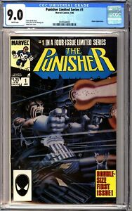 Punisher 1 CGC 9.0 White Limited Series Zeck Cover