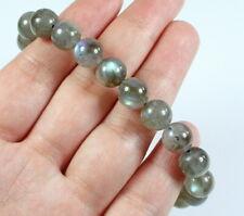9mm Natural Labradorite Round Bead Bracelet BLB663