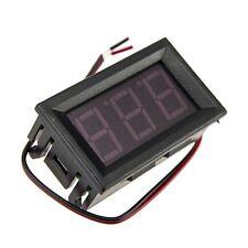 Mini DC 5-120V Voltmeter Blue LED Panel 3-Digital Display Voltage Meter 2-wire