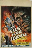 THE SON OF DR JEKYLL 1951 Belgian 14x22 VERY GREAT ART