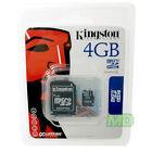 Original NEW Kingston 4GB microSDHC Card w/SD Adapter Samsung Intensity U450 OEM