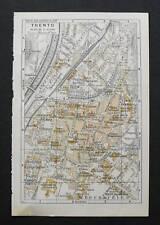 Antica Stampa=Topografica= TRENTO =Scala1:12000-1909