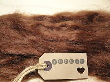 30g (approx. 1oz) MOHAIR. Mid Brown- Straight