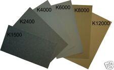 Micro-Mesh Finishing Sheet, 6 sheets 1500- 12000, extra fine, cushioned abrasive
