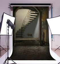 Old Building Stairway Photography Backgrounds 5x7ft Vinyl Photo Backdrops