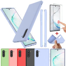 For Samsung Galaxy Note 10/10 Plus 5G Silicone Case Cover with Screen Protector