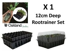 More details for 1 x haxnicks deep rootrainer set root trainer books cells plug plant seed tray