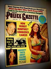The National Police Gazette April 1976 THE MEN WHO TRACK DOWN UFO'S super sex