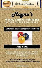 Maynu's Weekly Lottery Predictions : For Pick 3 Win 3 Big 3 Cash 3 Daily 3 by...