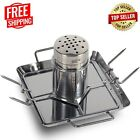 Beer Can Chicken Roaster Rack Stainless Steel Vertical BBQ Roasting Holder Grill