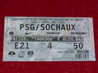 [COLLECTION SPORT FOOTBALL] TICKET PSG / SOCHAUX 9 NOVEMBRE 2002 Champ.France