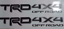 TRD 4x4, off road decal Sticker TOYOTA  tacoma tundra Matt black (set)