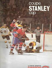 1968-69 Montreal Canadiens Stanley Cup Magazine + Game 1 Program vs Bruins!!