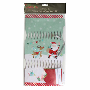 Christmas Cracker Kit Santa design - Pack of 6 - DIY - Make / Fill your Own