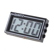 H3E# Mini Digital LCD Dashboard Auto Clock Time Calendar for Car Motorcycle