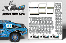 RC Number plate sticker pack 1/8 1/10 Scale body universal fit race decals-Check