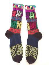 Hand knitted Peruvian winter ethnic long socks  AB60