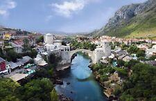 Mostar Old Town Panorama. 2007 Photo. Impressive City Art  13x19 Print