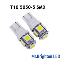 2Pcs Super White T10 Wedge 5-SMD 5050 LED Car Light bulbs License Plate W5W 194