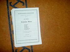 Deutsche Messe Schubert Curt Herold Holzschuh Orchester Partitur Akkordeon Noten