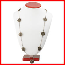 Circle Coin Long Gold Chain Fashion Necklace!