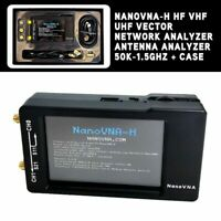 NanoVNA-H HF VHF UHF Vector Network Analyzer Antenna Analyzer 50K-1.5GHz & Case