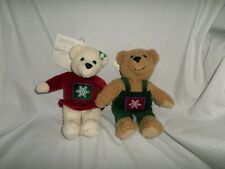 Hallmark Kiss Kiss Mistletoe Bear Set of 2 Couple Kissing Bears 10""