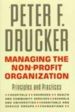 Managing the Nonprofit Organization, Peter F. Drucker NEW BOOK/FIRST EDITION