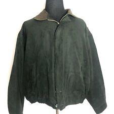 Roundtree & Yorke Men's Winter Jacket XXL Outdoors Suede Dark Green Zip Up 2XL