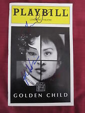 GOLDEN CHILD PLAYBILL 1998 signed by KIM MIYORI and others NEW YORK CITY