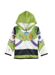 Disney Little Boys' Toddler Buzz Lightyear Hoody Toddler, White, 4T