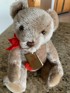 """NEW Hermann Original Red Label Mohair YES/NO 13"""" Teddy Bear"""